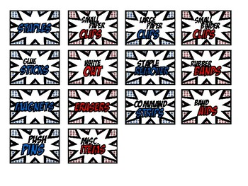 Superhero Teacher Toolbox Labels
