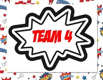 Superhero Team Signs