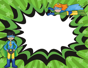 Superhero Team Signs and Classroom Labels