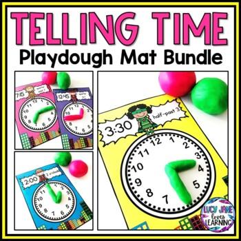 Superhero Telling Time Playdough Mats BUNDLE