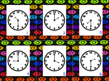Superhero Telling Time {time to the hour and half hour}