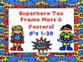 Superhero Ten Frame Mats