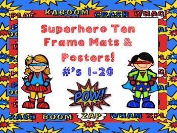 Superhero Ten Frame Mats