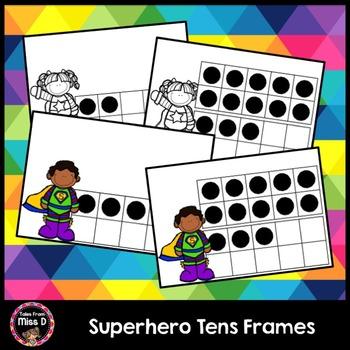 Superhero Ten Frames