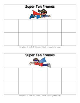 Superhero Ten Frames (Boy & Girl)