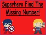 Superhero Missing Numbers