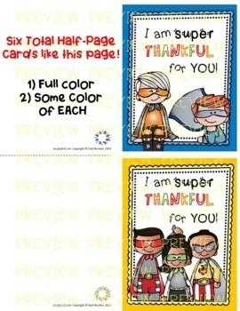 Superhero Thank You Cards (Principals & Teachers!)