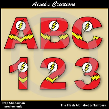 Superhero The Flash Alphabet & Numbers