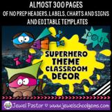 Superhero Theme Classroom Decor EDITABLE (Superhero Classroom Theme Decor)