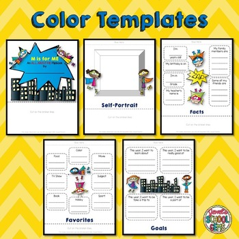 All About Me Superhero Theme  (Back to School Flip Book)