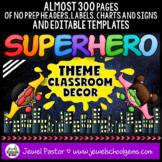 Superhero Theme Classroom Decor EDITABLE (Superhero Classr