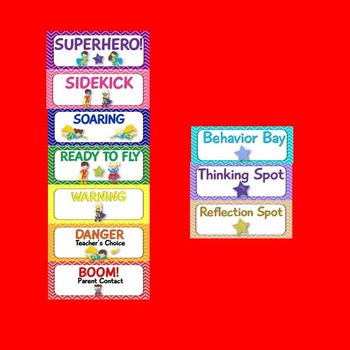 Superhero Theme Behavior Chart