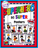 Growth Mindset Posters SUPERHERO CLASSROOM THEME Motivational Posters