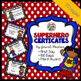Superhero Theme Certificates ❤ Superhero Certificates