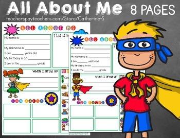 All About Me - Superhero Theme