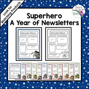 Superhero Newsletter Editable Template