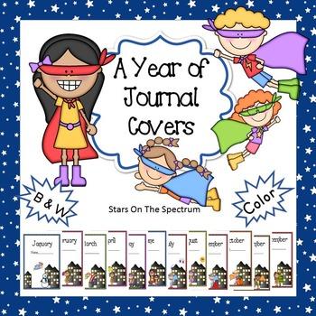 Superhero Theme Journal Covers * Superhero Journal Covers