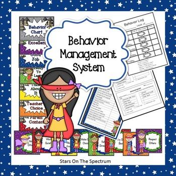 Superhero Clip Chart Complete Behavior Management System