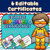 Superhero Theme Certificates (Superhero Certificates)