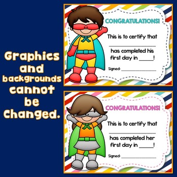 Superhero Theme Certificates (Superhero Certificates)