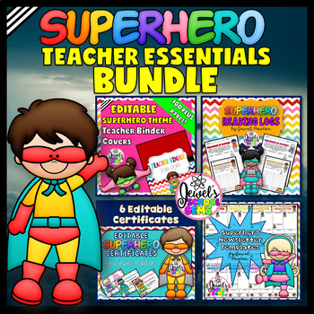 Superhero Theme Teacher Essentials BUNDLE