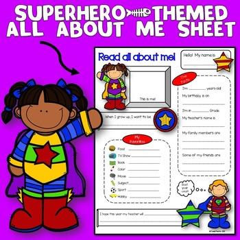 All About Me Superhero Theme