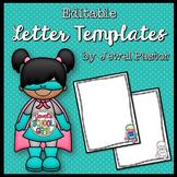 Superhero Theme Editable Letter Templates