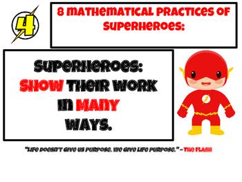 Superhero Theme 8 Mathematical Practices Mini Posters Common Core CCS