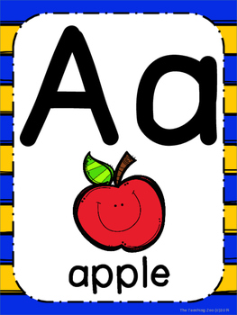 Superhero Theme ABC Posters - Large, Small & Flashcards