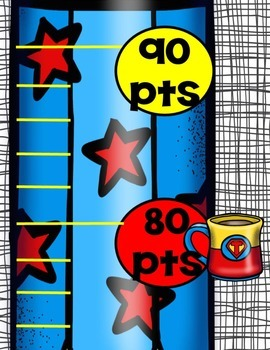 Superhero Theme-Accelerated Reader Points (AR) Hanging Chart