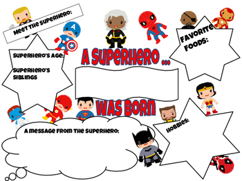 Superhero Theme All About Me Student Poster Marvel X-