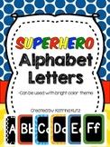 Superhero Theme Alphabet Cards