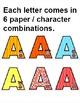 Superhero Theme Alphabet Cutouts