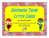 Superhero Theme Alphabet Letter Cards Aa-Zz