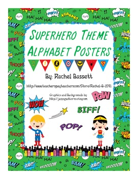 Superhero Theme Alphabet Posters