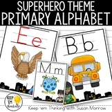 Superhero Theme Alphabet Posters Primary Font - Superhero