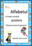 Superhero Theme Alphabet Posters in Romanian, Alfabetul te
