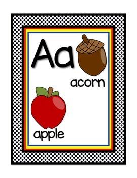 Superhero Theme Alphabet/Word Wall Header Display Cards in White