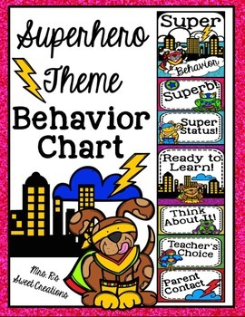 Superhero Theme-Behavior Chart