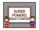 Superhero Theme Behavior Chart in White