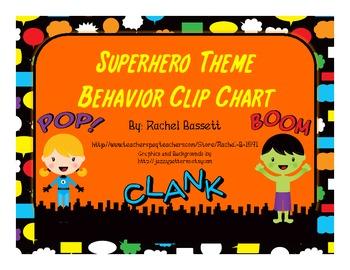 Superhero Theme Behavior Clip Chart