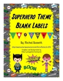 Superhero Theme Blank Labels