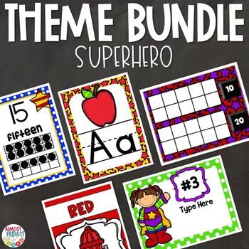 Superhero | Classroom Theme Decor Bundle
