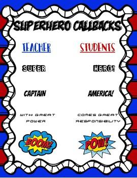 Superhero Theme Callbacks