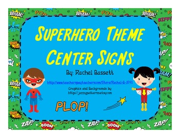 Superhero Theme Center Signs