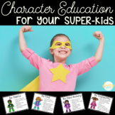 Superhero Themed Character Education Posters