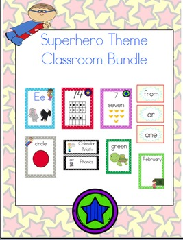 Superhero Theme Classroom Bundle