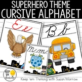 Superhero Cursive Alphabet Posters - Superhero Theme Class