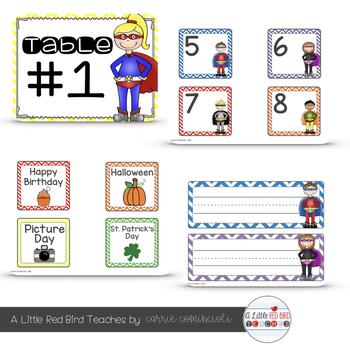 Superhero Theme Classroom Decor {Editable}