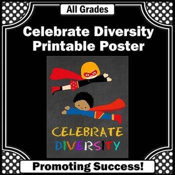 Classroom Diversity Poster, Superhero Theme Classroom Deco